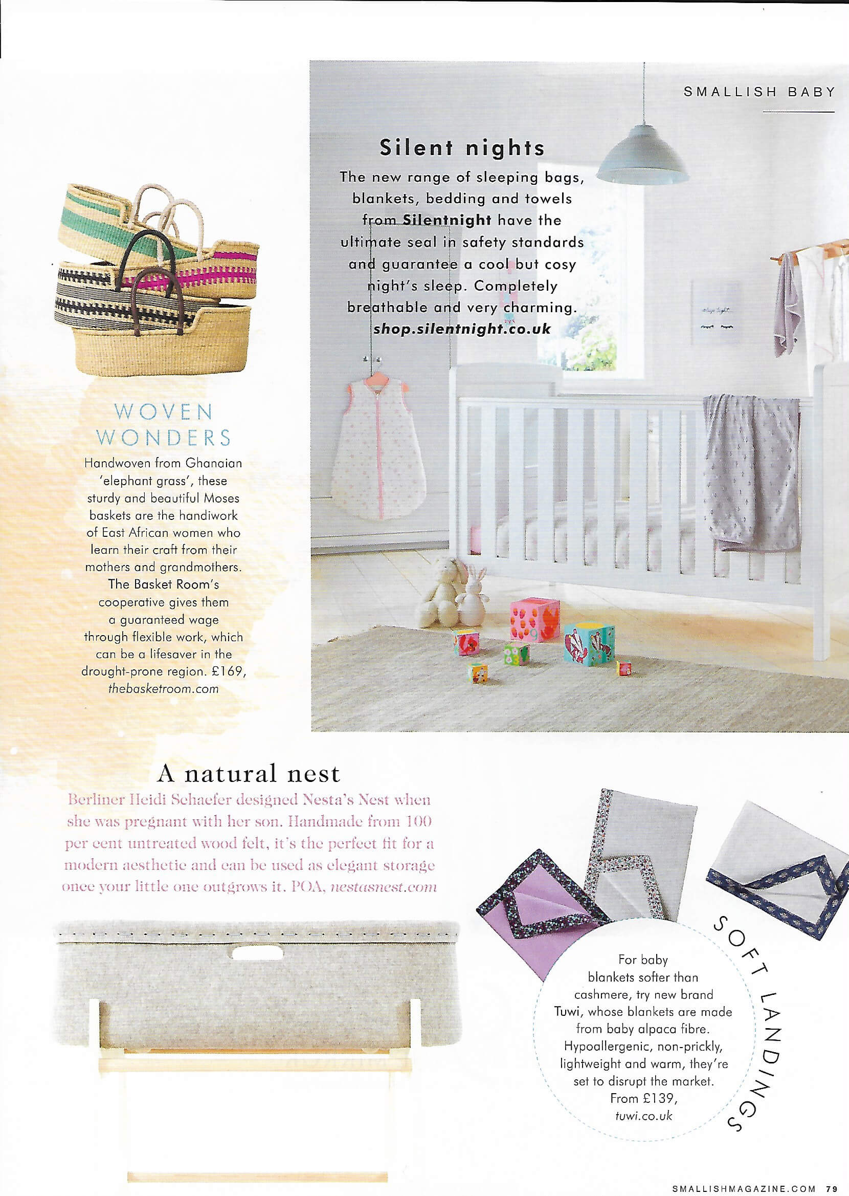 Smallish magazine April 2018 featuring Tuwi promotion article photo of child's room
