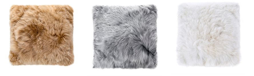 Tuwi Alpaca Fur Cushions in 3 colours