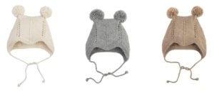 Tuwi Baby Alpaca Wool Knitted Baby Bonnets