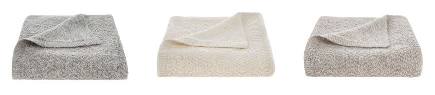 Tuwi Alpaca Wool Baby Blankets In 3 Colours